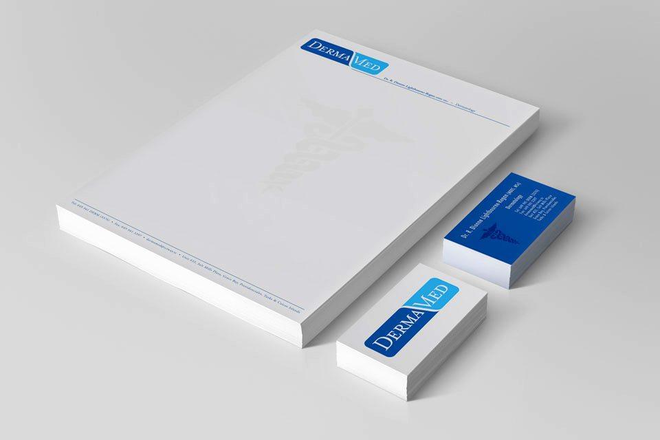 DermaMed Skin Clinic: branding, logo, stationery design