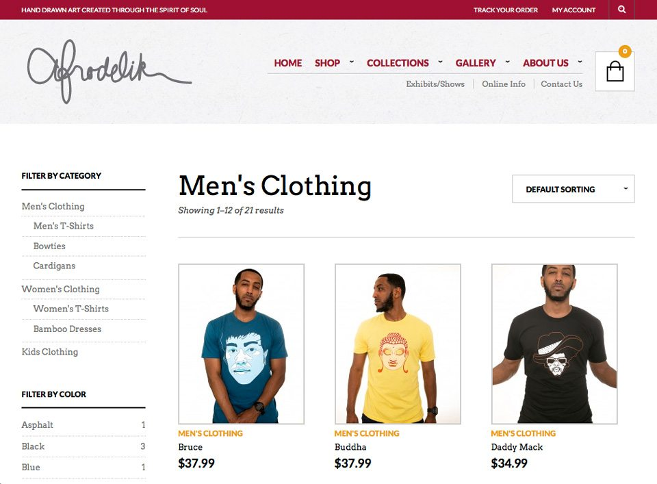 Afrodelik - Mens product page