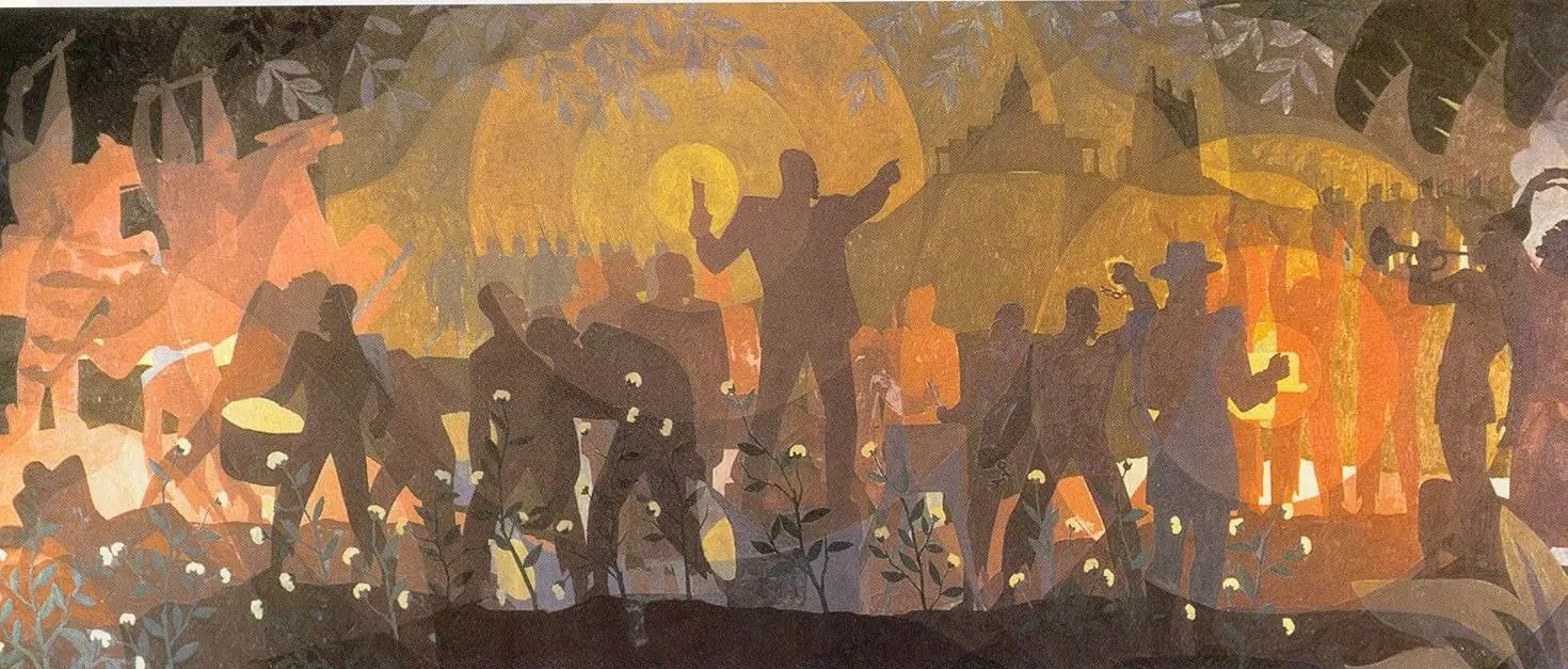 Aaron Douglas - From Slavery Through Reconstruction, 1934