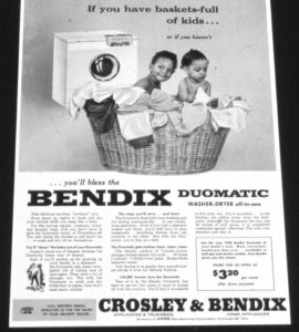 Advertisement for washer/dryer design by Leroy Winbush