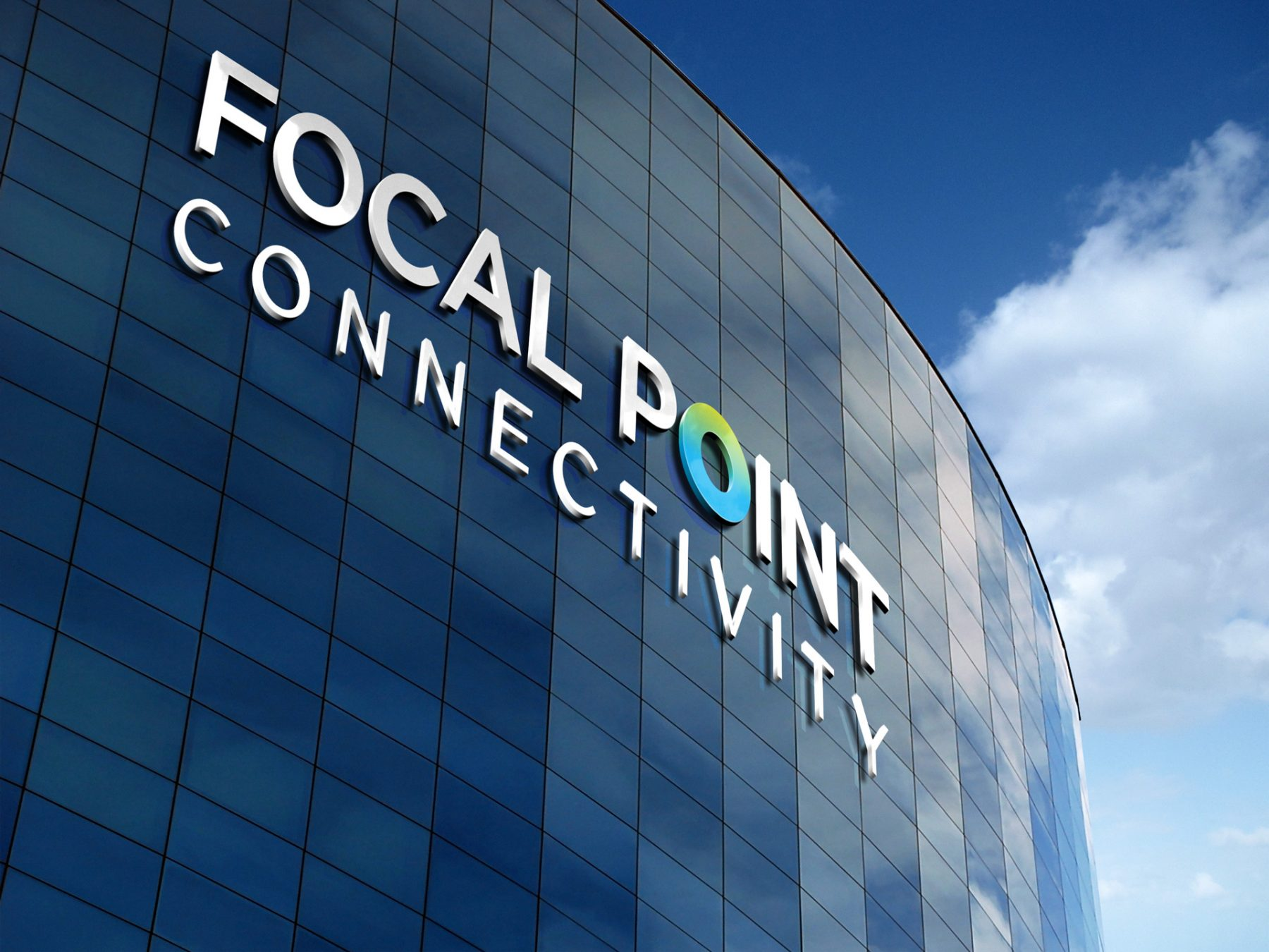 Focal Point Connectivity - logo design - signage