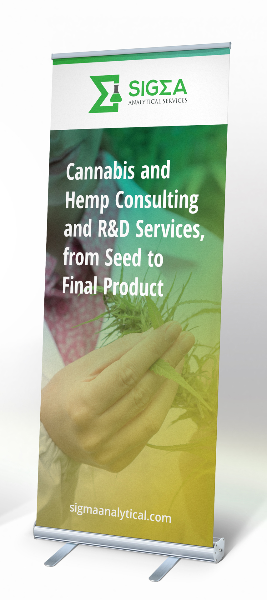Sigma Analytical Services: Rollup-Stand - Display Design